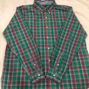 CHAPS Men's red/green Casual Button Down SIZE XL